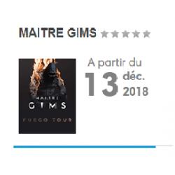 CONCERT MAITRE GIMS 13 DECEMBRE 2018