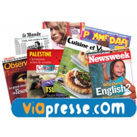 VIAPRESSE , TOUS VOS MAGAZINES A TARIFS PREFERENTIELS !!